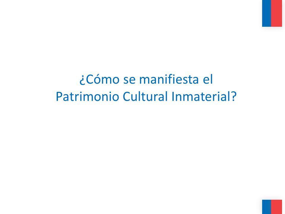 ¿Cómo se manifiesta el Patrimonio Cultural Inmaterial