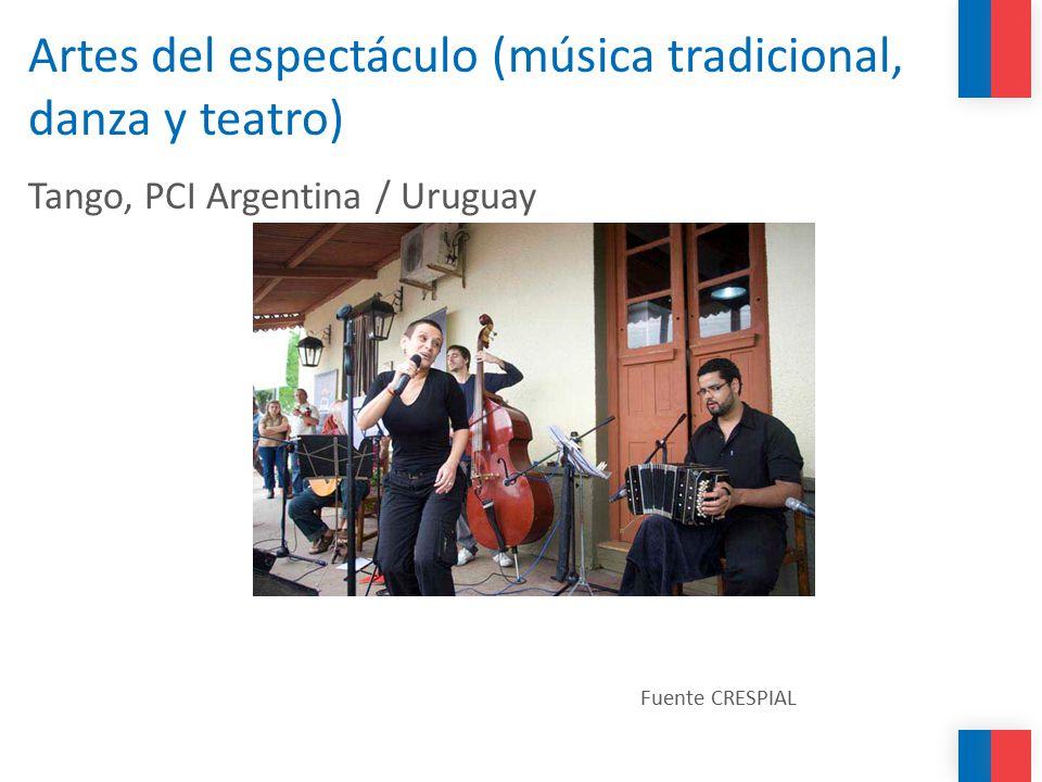 Artes del espectáculo (música tradicional, danza y teatro)