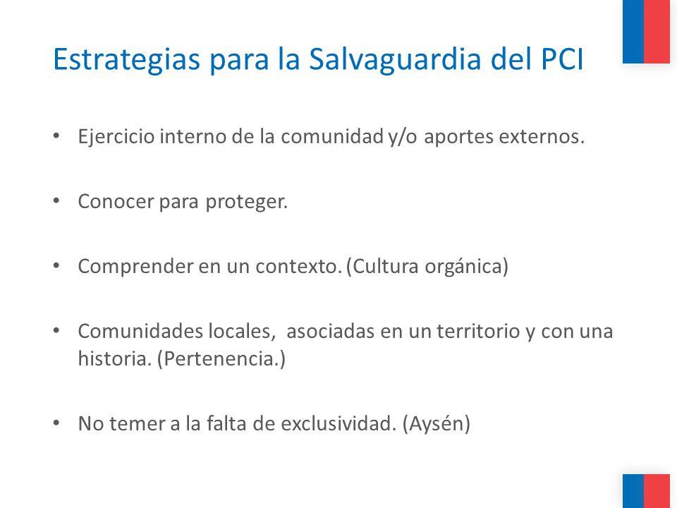 Estrategias para la Salvaguardia del PCI
