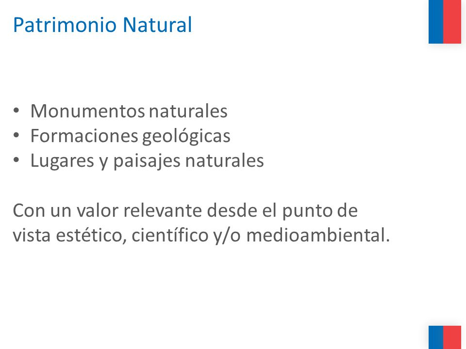 Patrimonio Natural Monumentos naturales Formaciones geológicas