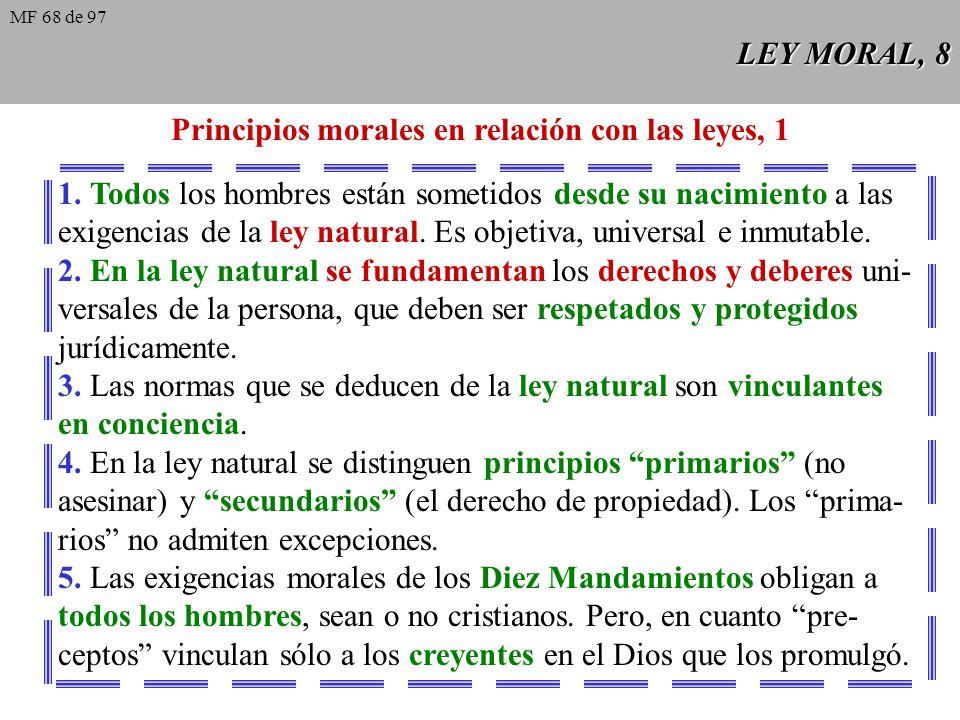 Principios morales en relación con las leyes, 1