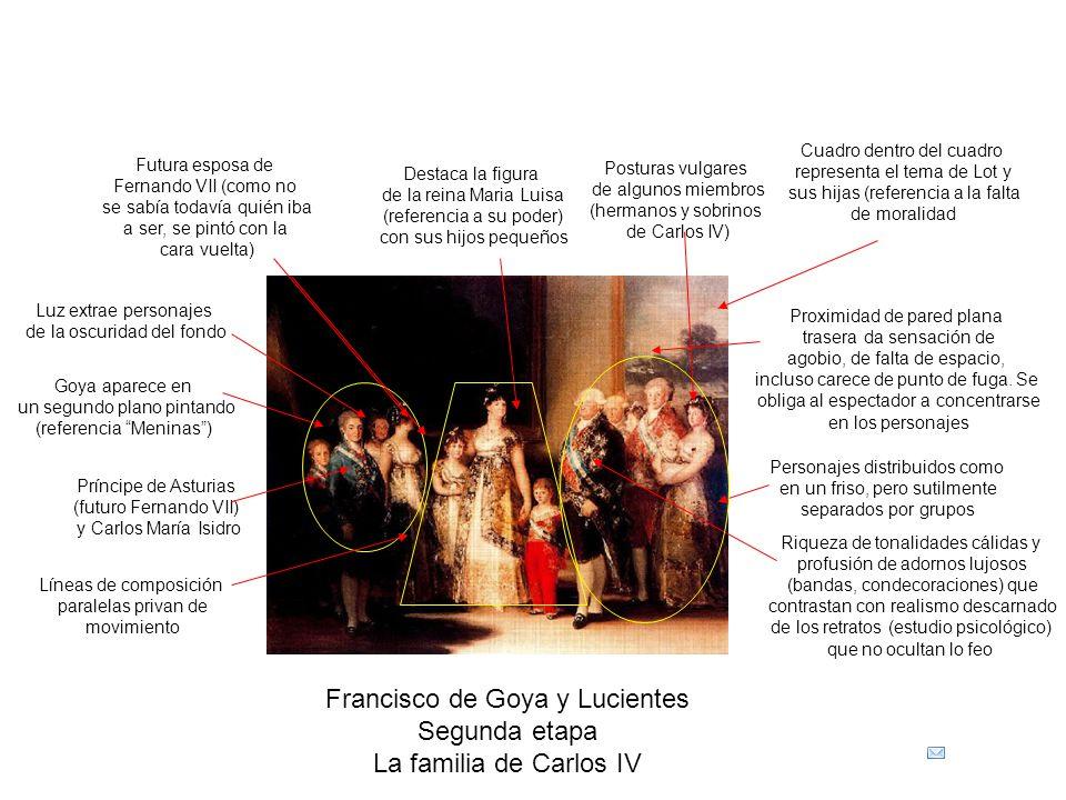Francisco de Goya y Lucientes Segunda etapa La familia de Carlos IV