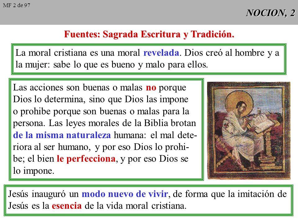 Fuentes: Sagrada Escritura y Tradición.