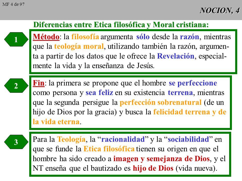Diferencias entre Etica filosófica y Moral cristiana: