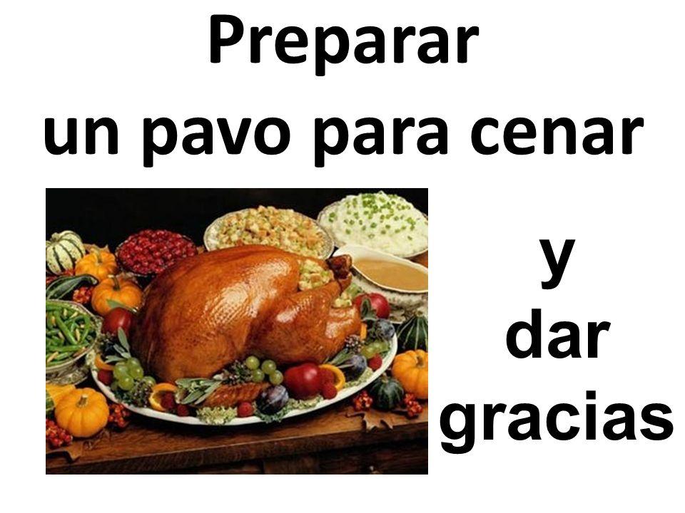 Preparar un pavo para cenar