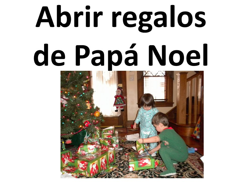 Abrir regalos de Papá Noel