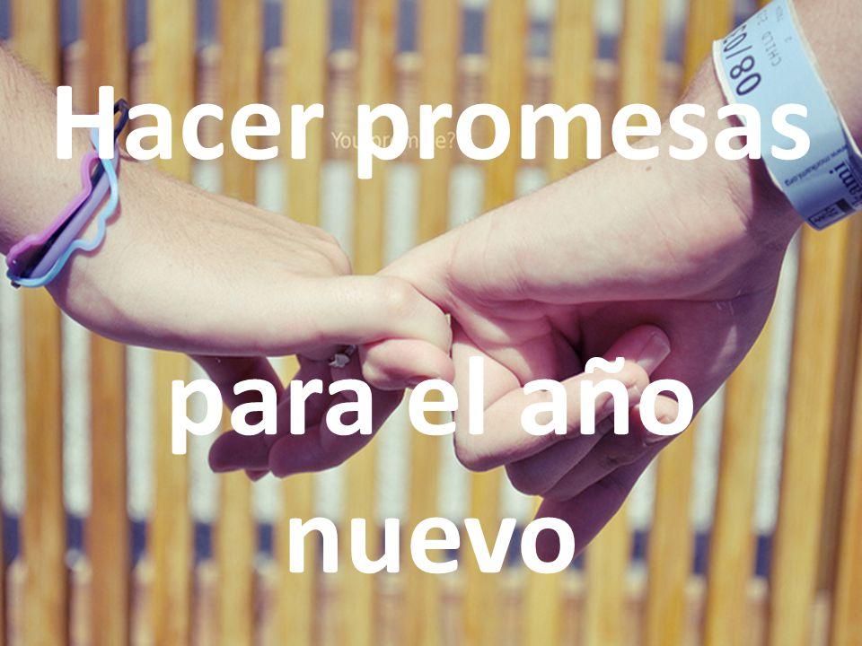 Hacer promesas para el año nuevo