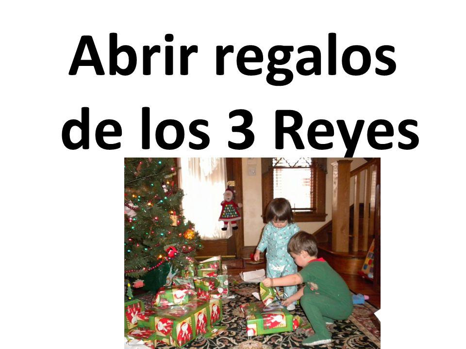 Abrir regalos de los 3 Reyes