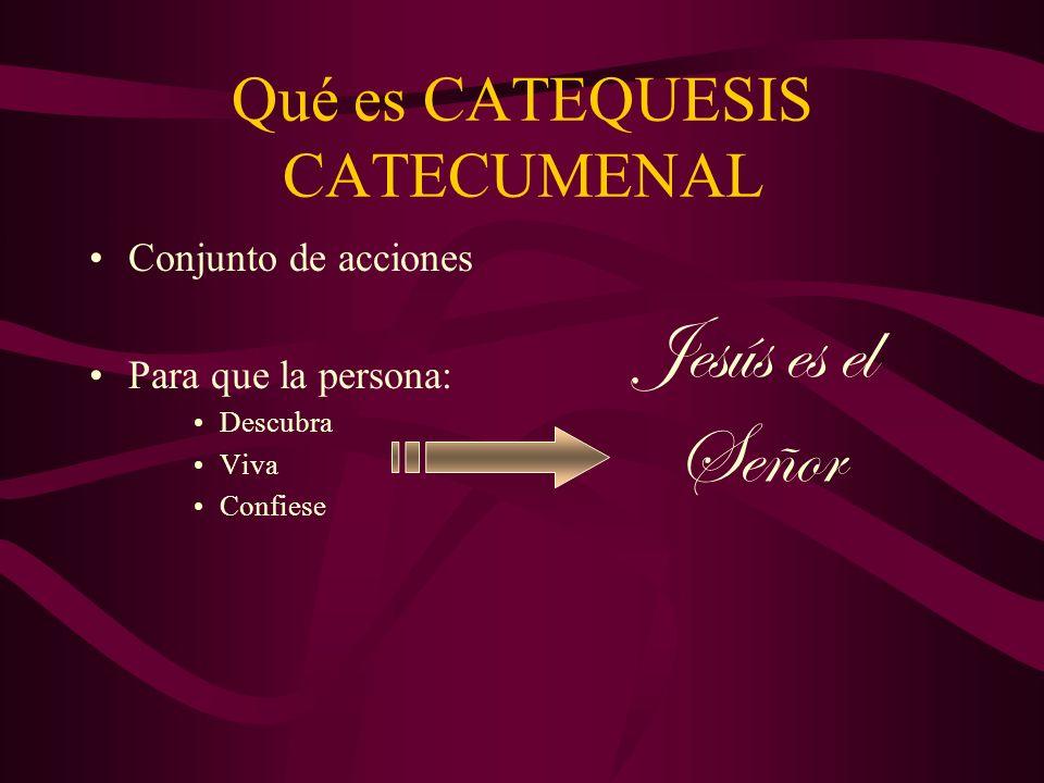 Qué es CATEQUESIS CATECUMENAL