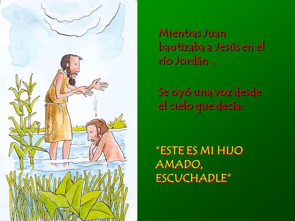Mientras Juan bautizaba a Jesús en el río Jordán ...