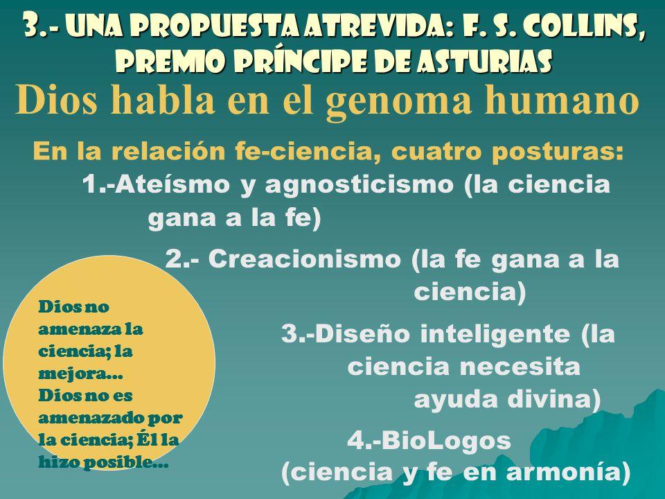 3.- Una propuesta atrevida: F. S. Collins, premio Príncipe de Asturias