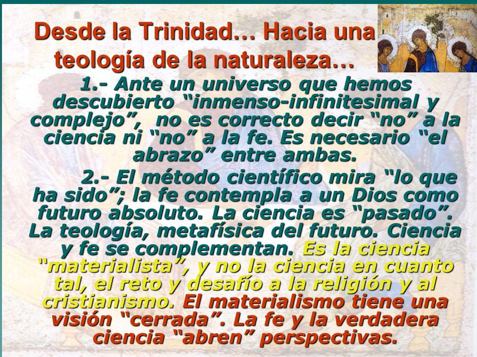 Desde la Trinidad… Hacia una teología de la naturaleza…
