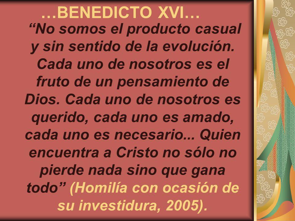 …BENEDICTO XVI…