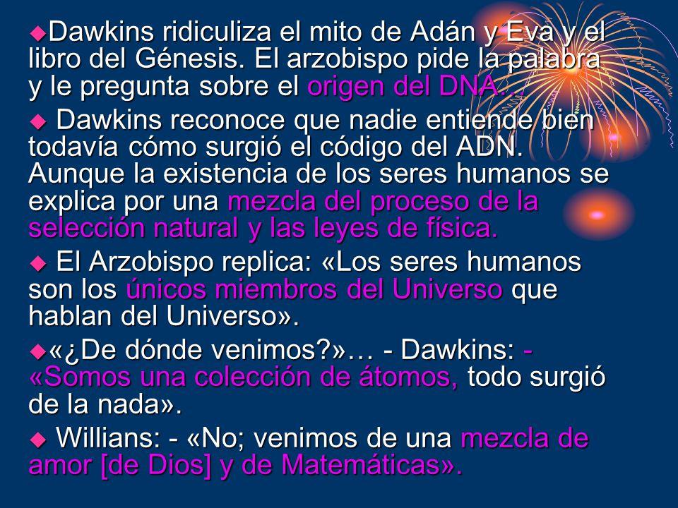 Dawkins ridiculiza el mito de Adán y Eva y el libro del Génesis