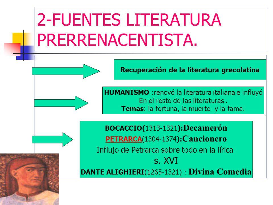 2-FUENTES LITERATURA PRERRENACENTISTA.