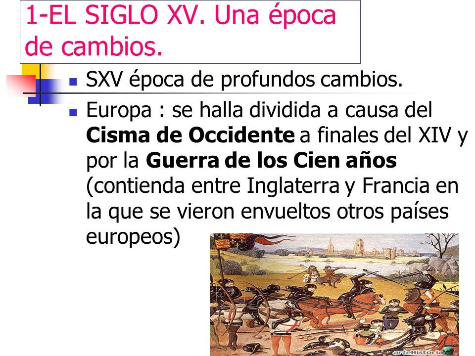 1-EL SIGLO XV. Una época de cambios.