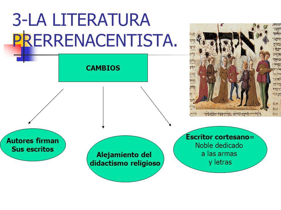 3-LA LITERATURA PRERRENACENTISTA.