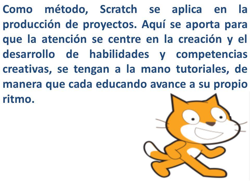 Como método, Scratch se aplica en la producción de proyectos
