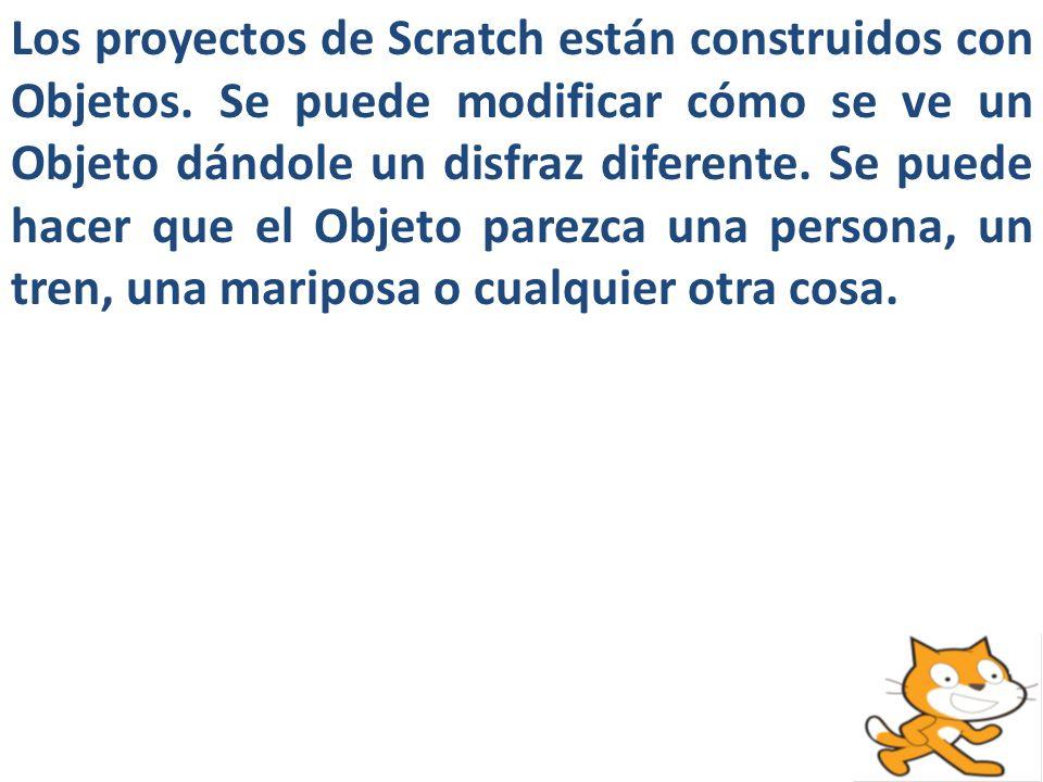 Los proyectos de Scratch están construidos con Objetos