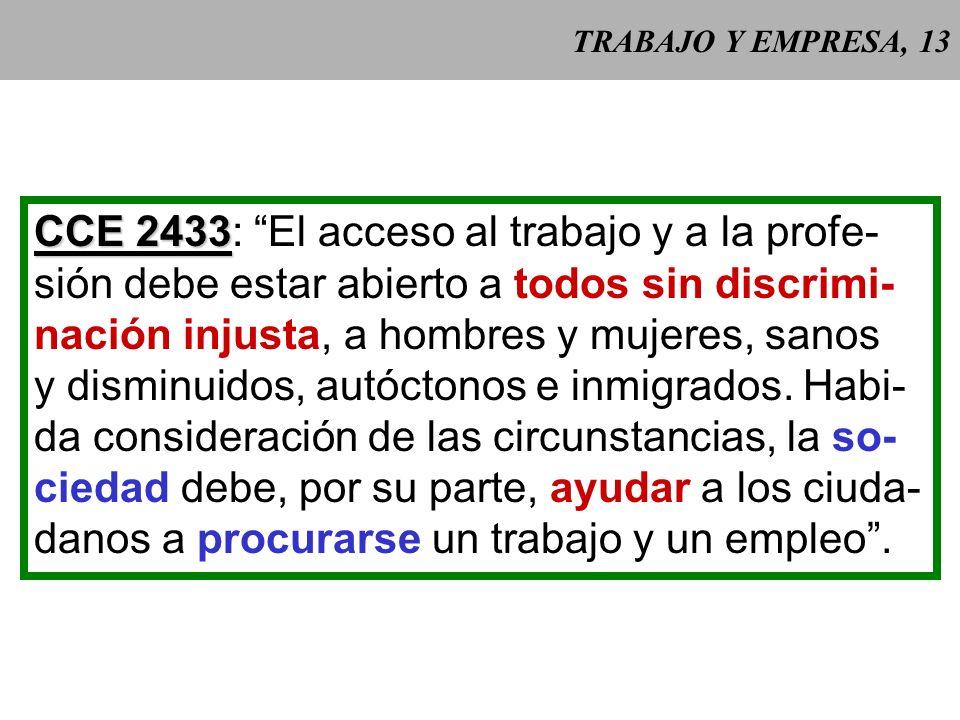 CCE 2433: El acceso al trabajo y a la profe-