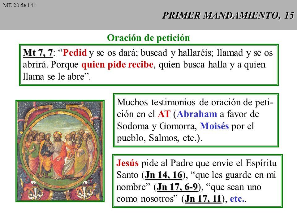 Mt 7, 7: Pedid y se os dará; buscad y hallaréis; llamad y se os