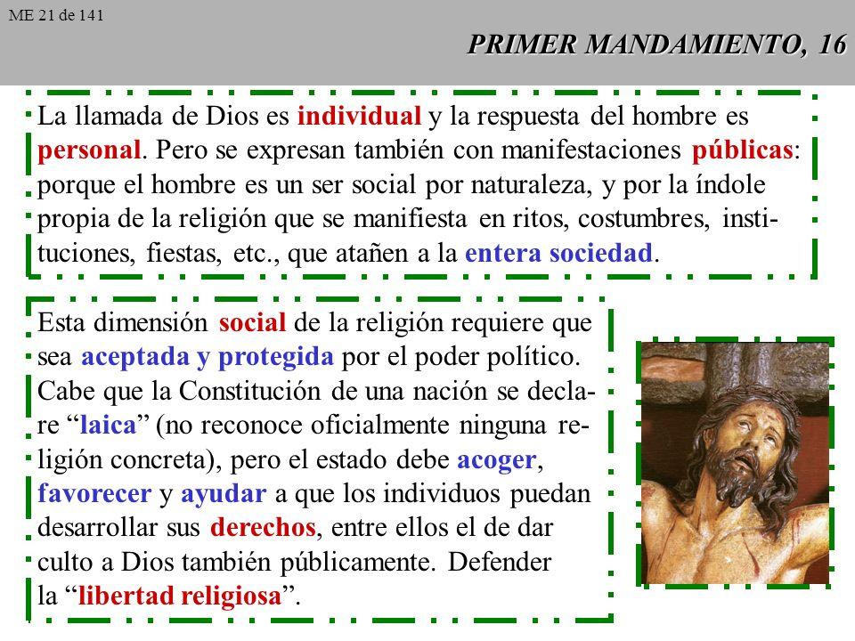 La llamada de Dios es individual y la respuesta del hombre es