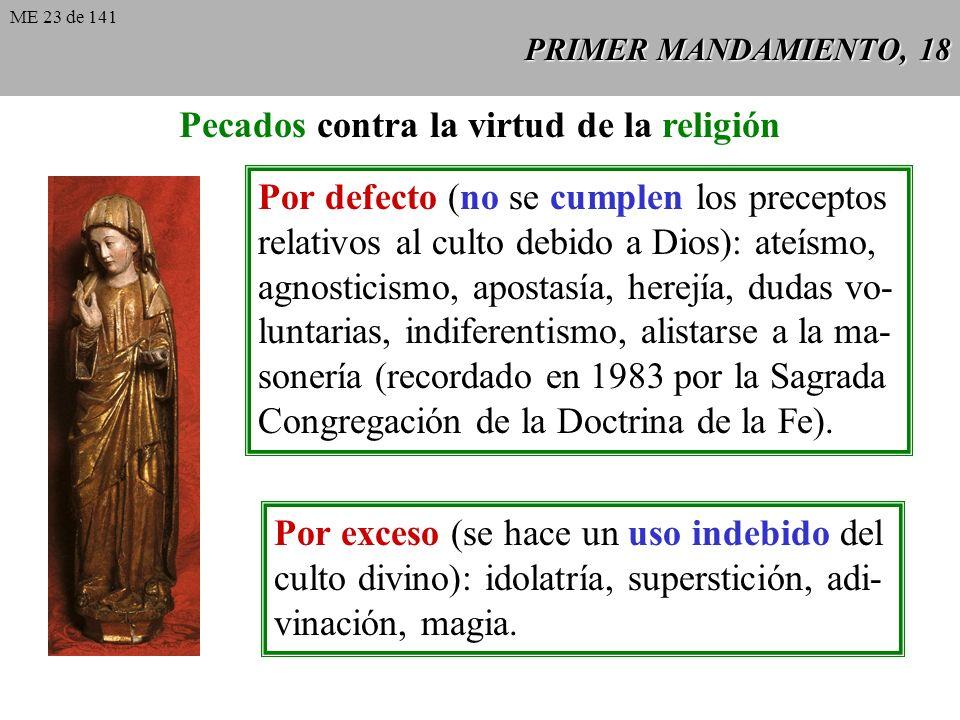Pecados contra la virtud de la religión