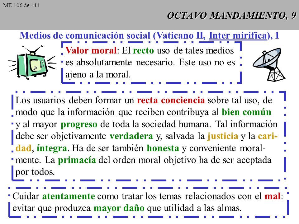 Medios de comunicación social (Vaticano II, Inter mirifica), 1