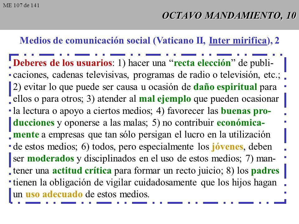 Medios de comunicación social (Vaticano II, Inter mirifica), 2