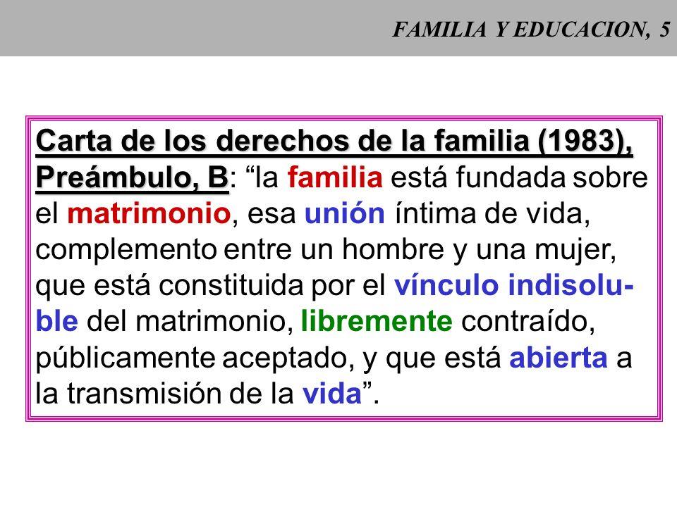 Carta de los derechos de la familia (1983),