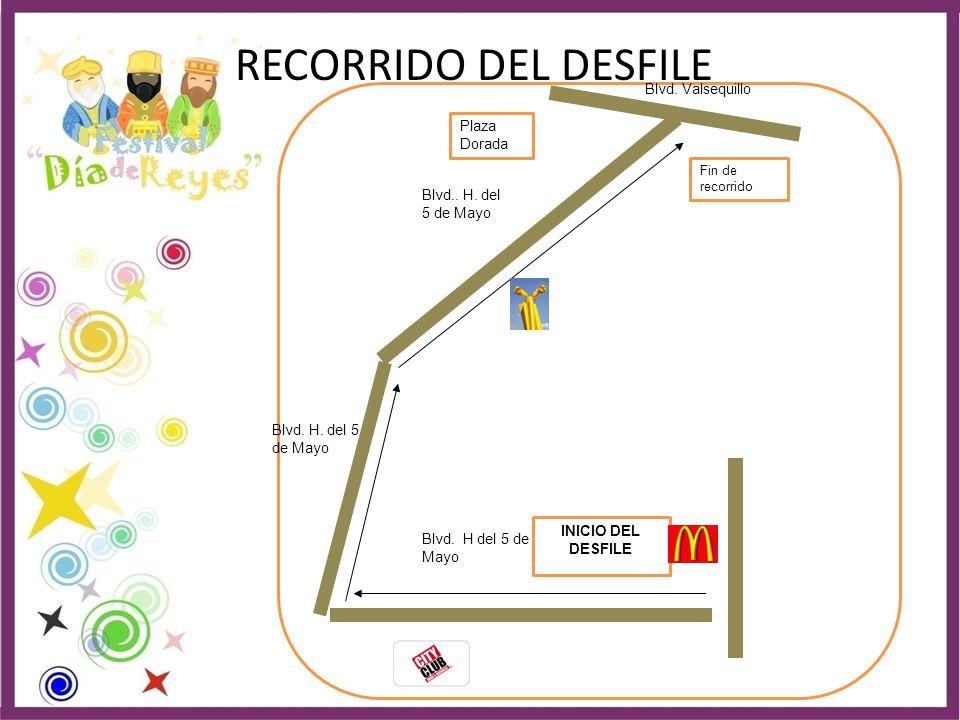 RECORRIDO DEL DESFILE Blvd. Valsequillo Plaza Dorada