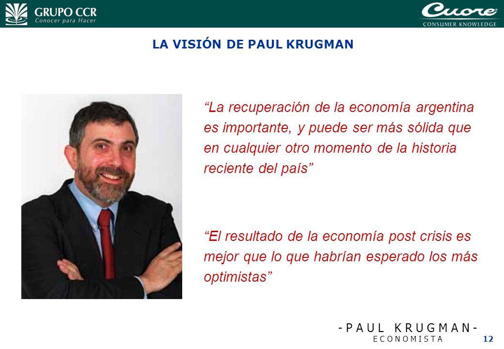 LA VISIÓN DE PAUL KRUGMAN