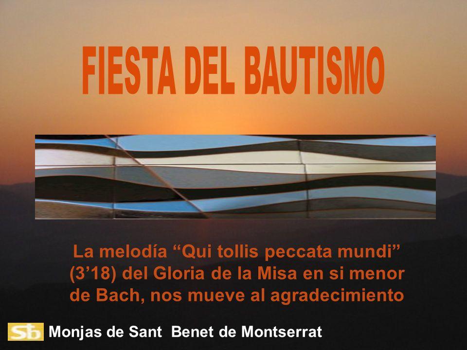 FIESTA DEL BAUTISMO La melodía Qui tollis peccata mundi (3'18) del Gloria de la Misa en si menor de Bach, nos mueve al agradecimiento.