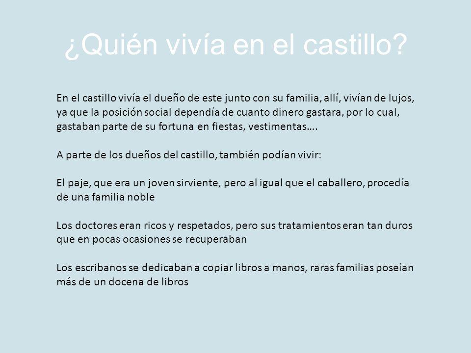 ¿Quién vivía en el castillo