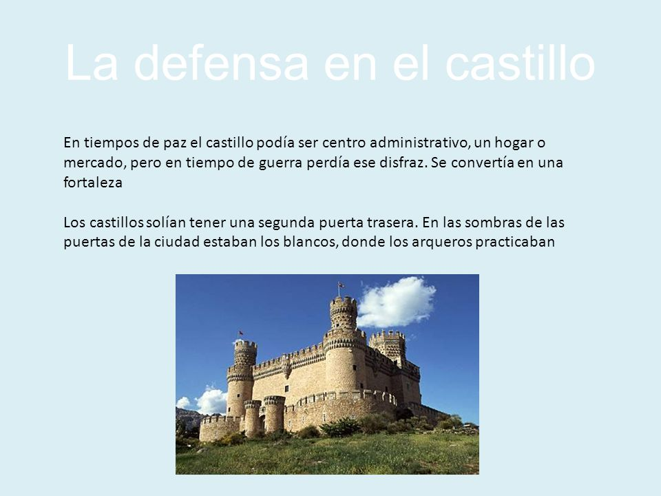 La defensa en el castillo