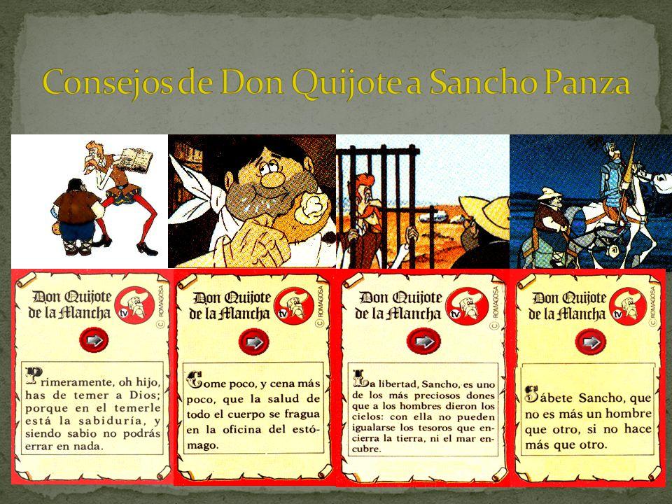 Consejos de Don Quijote a Sancho Panza