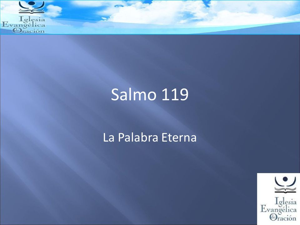 Salmo 119 La Palabra Eterna