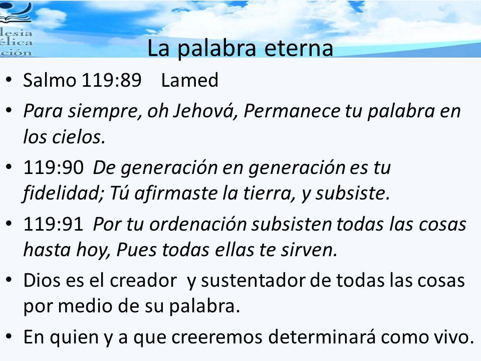 La palabra eterna Salmo 119:89 Lamed