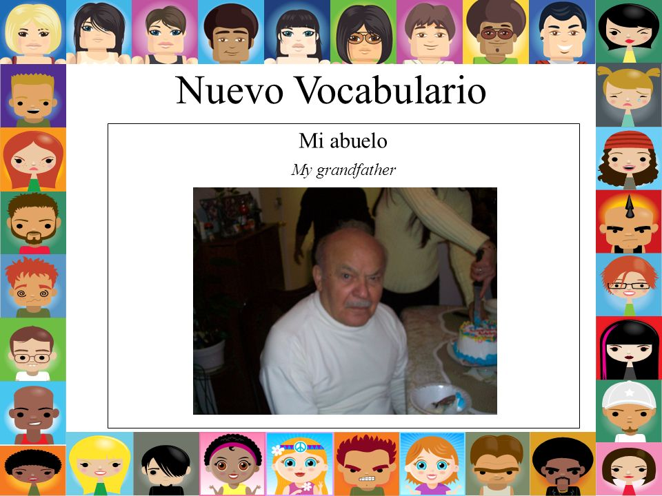 Nuevo Vocabulario Mi abuelo My grandfather