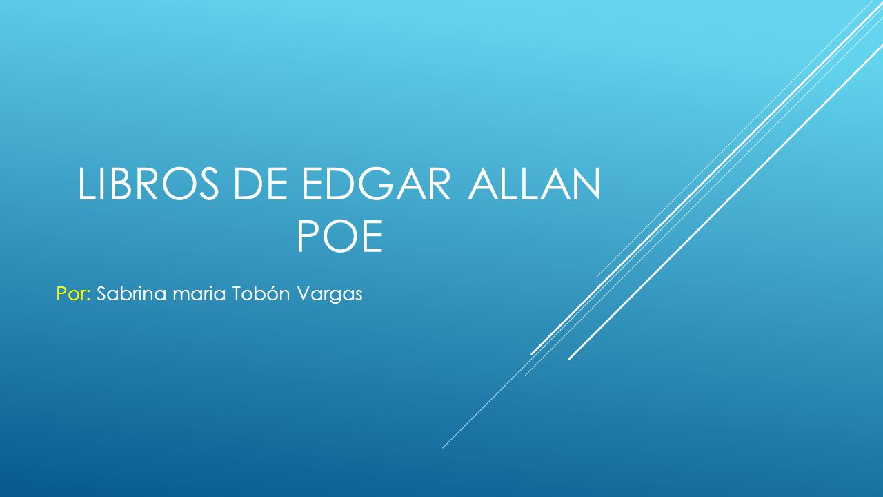 Libros de Edgar Allan Poe