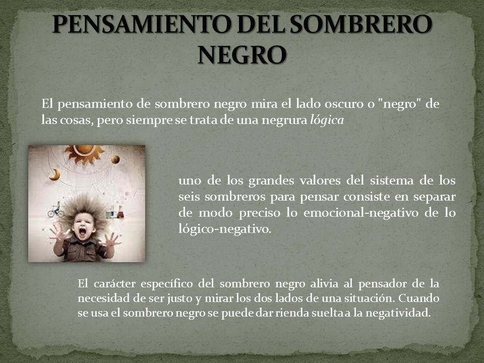 PENSAMIENTO DEL SOMBRERO NEGRO