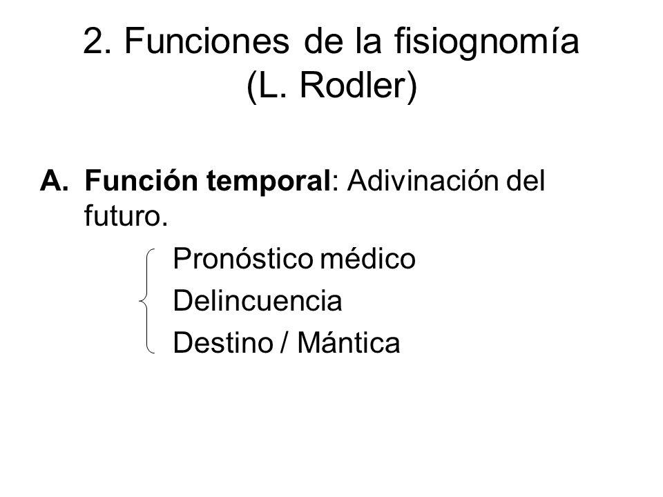 2. Funciones de la fisiognomía (L. Rodler)