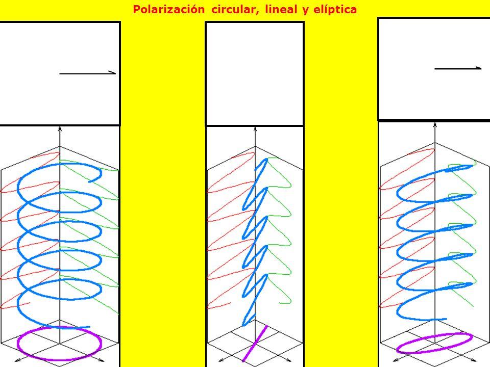 Polarización circular, lineal y elíptica