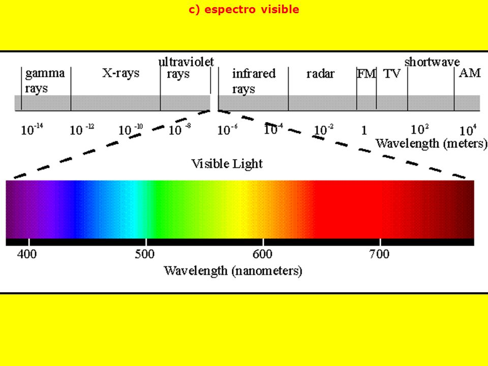 c) espectro visible