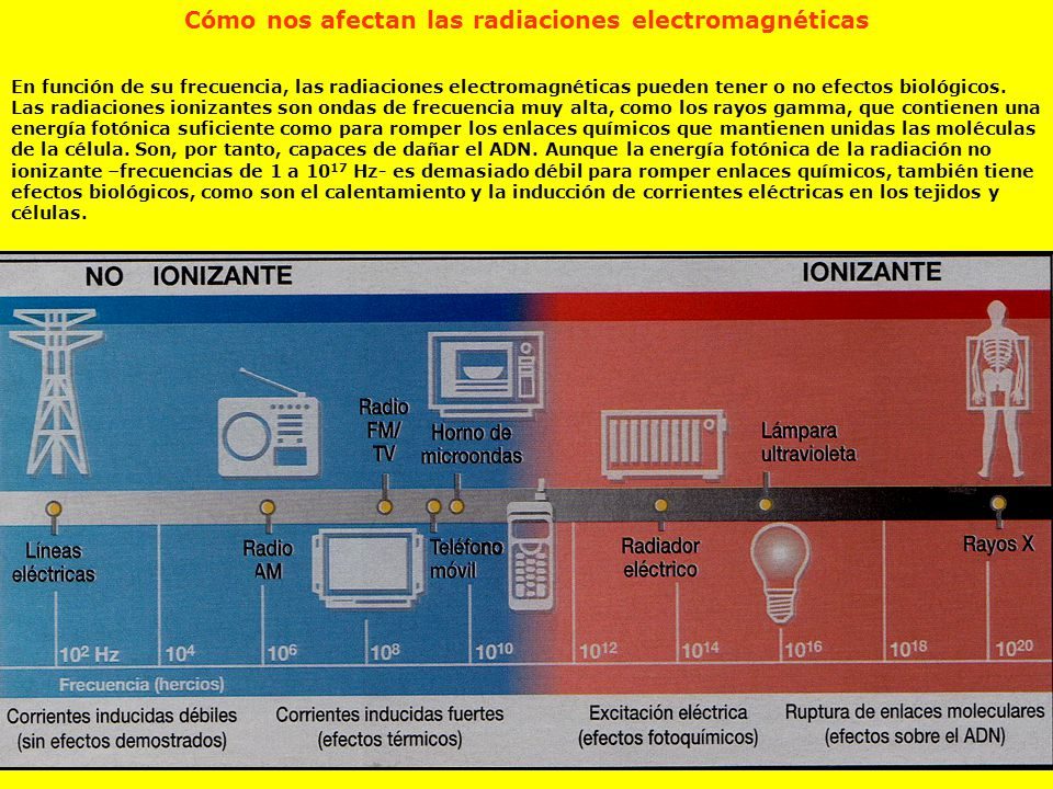 Cómo nos afectan las radiaciones electromagnéticas