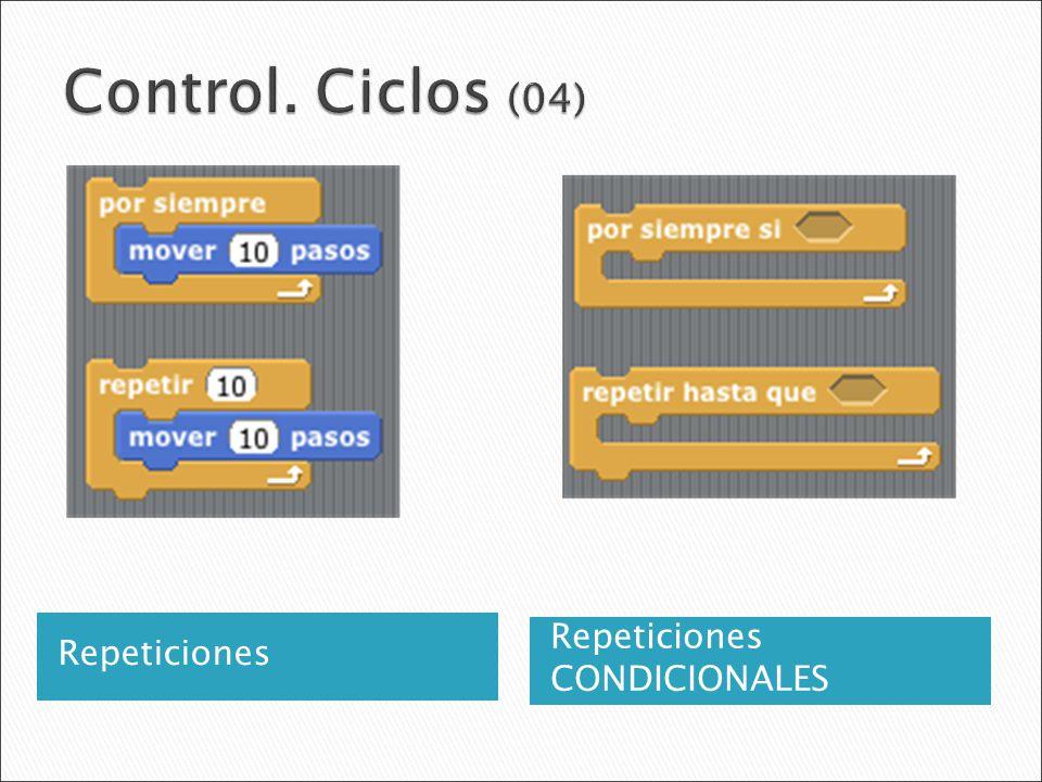 Control. Ciclos (04) Repeticiones Repeticiones CONDICIONALES