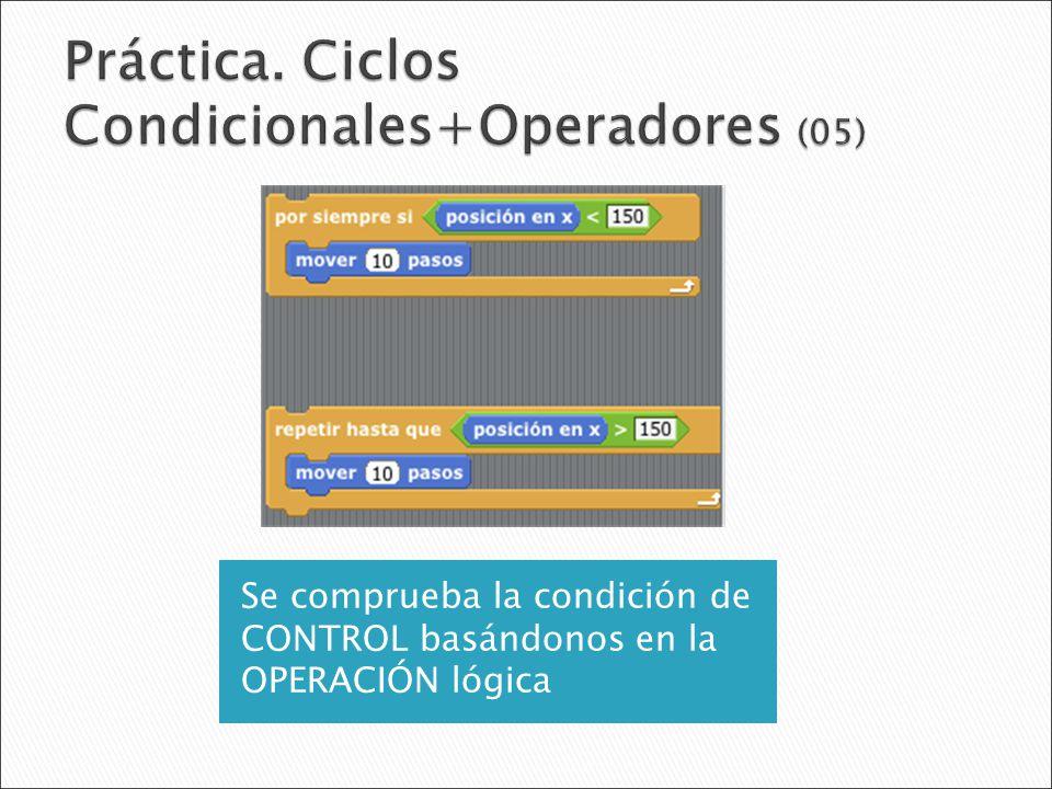 Práctica. Ciclos Condicionales+Operadores (05)