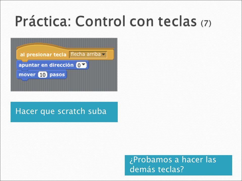 Práctica: Control con teclas (7)