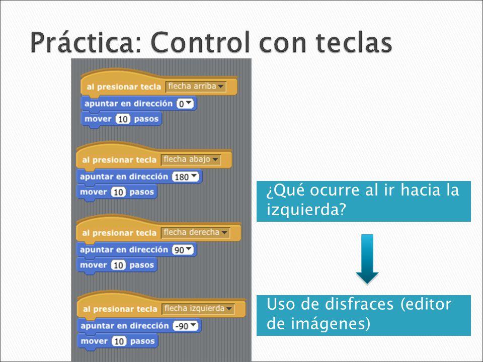 Práctica: Control con teclas