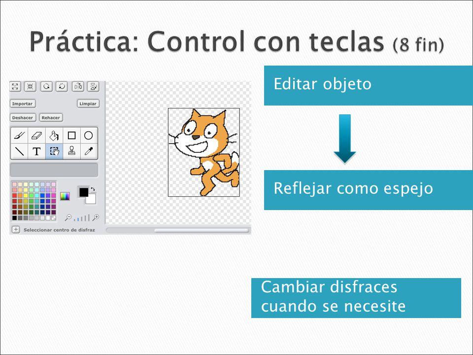 Práctica: Control con teclas (8 fin)
